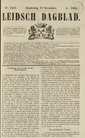 Leidsch Dagblad 1864-11-10