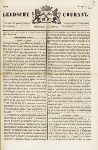 Leydse Courant 1862-08-13