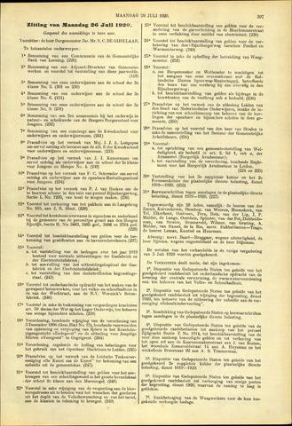 Handelingen van de Raad 1920-07-26