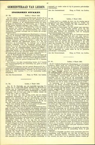 Handelingen van de Raad 1923-03-03