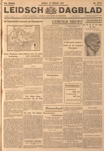 Leidsch Dagblad 1942-02-10
