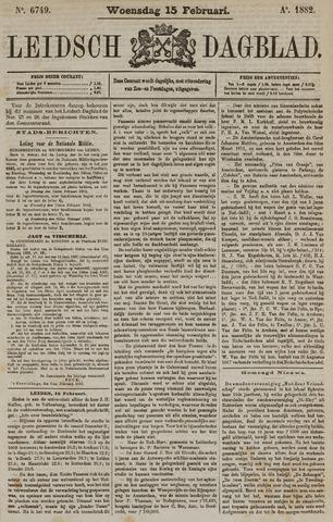 Leidsch Dagblad 1882-02-15