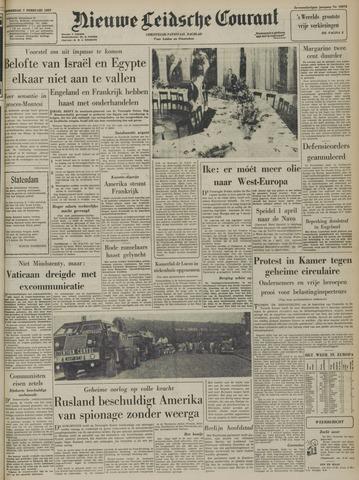 Nieuwe Leidsche Courant 1957-02-07