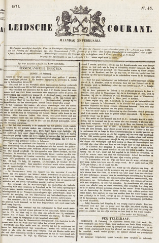 Leydse Courant 1871-02-20