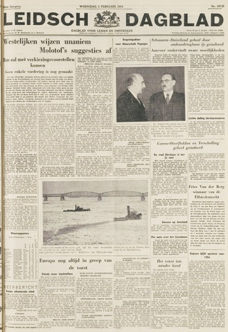 Leidsch Dagblad 1954-02-03