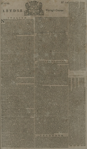 Leydse Courant 1743-09-27