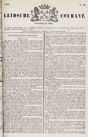 Leydse Courant 1882-04-22