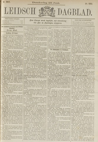 Leidsch Dagblad 1892-06-23