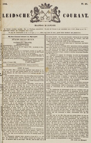 Leydse Courant 1885-01-26