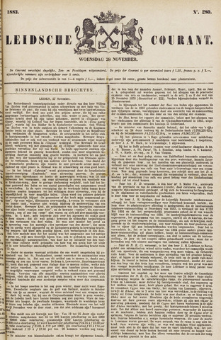 Leydse Courant 1883-11-28