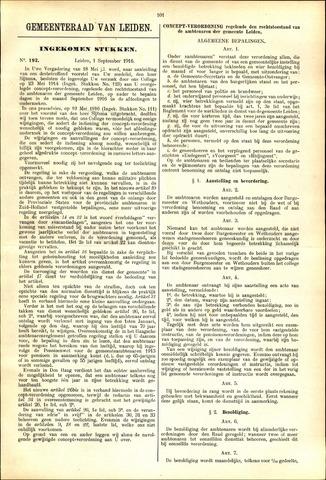 Handelingen van de Raad 1916-09-01