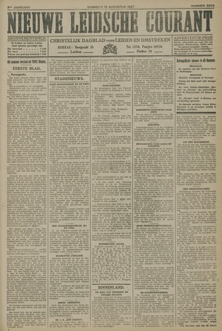 Nieuwe Leidsche Courant 1927-08-15