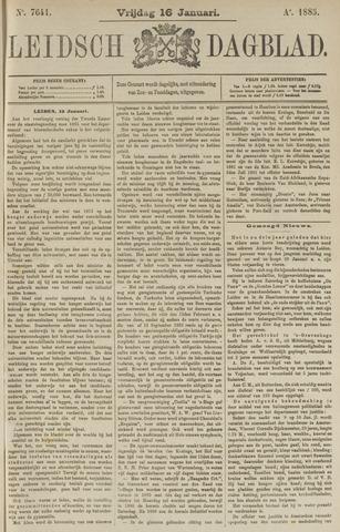 Leidsch Dagblad 1885-01-16