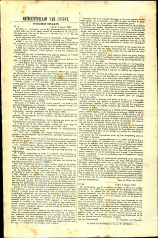 Handelingen van de Raad 1885-01-09
