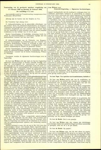 Handelingen van de Raad 1936-02-18