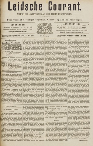 Leydse Courant 1885-09-29