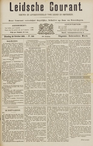 Leydse Courant 1885-10-20