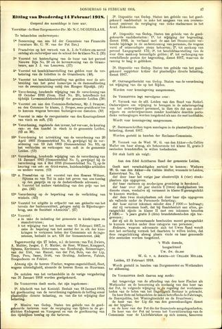 Handelingen van de Raad 1918-02-14