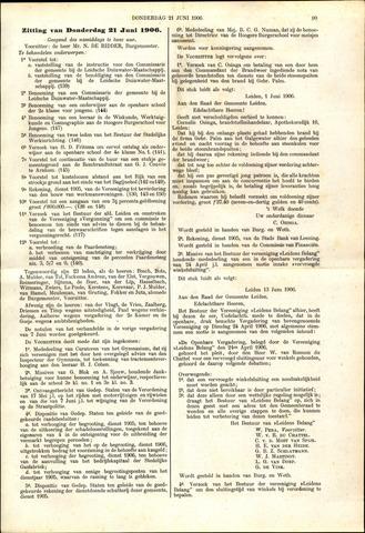 Handelingen van de Raad 1906-06-21
