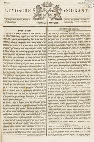 Leydse Courant 1860-01-04