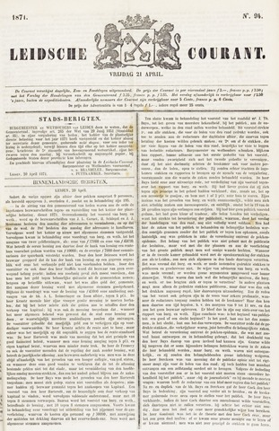 Leydse Courant 1871-04-21