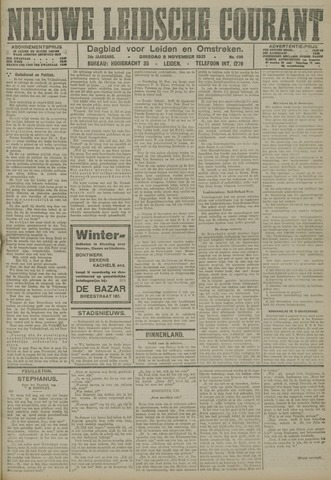 Nieuwe Leidsche Courant 1921-11-08