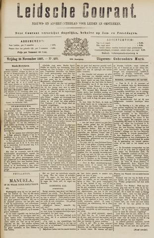 Leydse Courant 1887-11-25