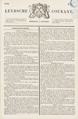 Leydse Courant 1852-01-07