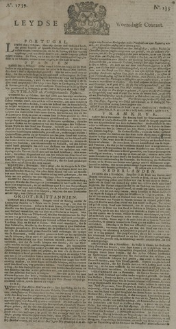 Leydse Courant 1739-11-11