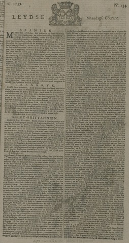Leydse Courant 1739-11-09