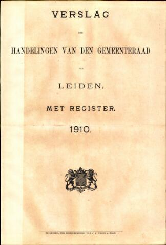 Handelingen van de Raad 1910-01-01