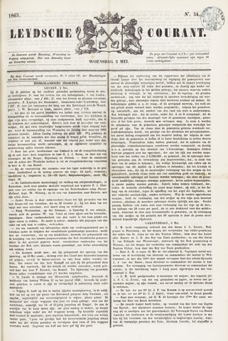 Leydse Courant 1865-05-03