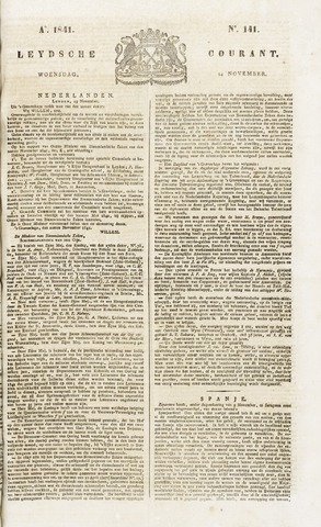 Leydse Courant 1841-11-24