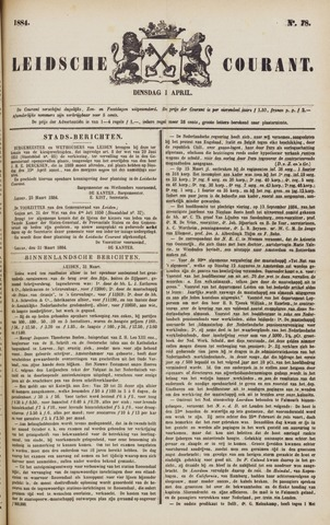 Leydse Courant 1884-04-01