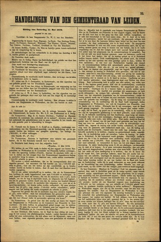 Handelingen van de Raad 1872-05-11