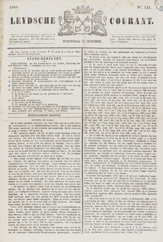 Leydse Courant 1866-10-31