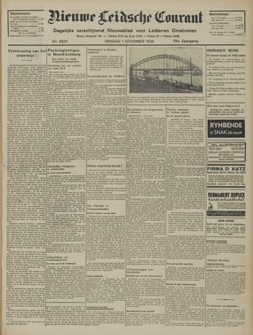 Nieuwe Leidsche Courant 1938-11-01