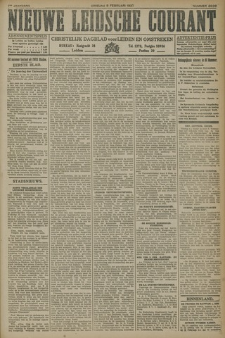 Nieuwe Leidsche Courant 1927-02-08