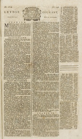 Leydse Courant 1819-10-20