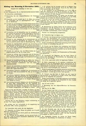 Handelingen van de Raad 1931-11-02