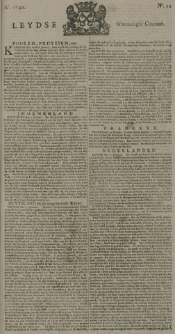 Leydse Courant 1740-01-27