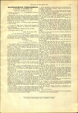 Handelingen van de Raad 1909-11-22