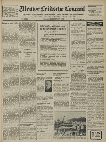 Nieuwe Leidsche Courant 1938-02-21