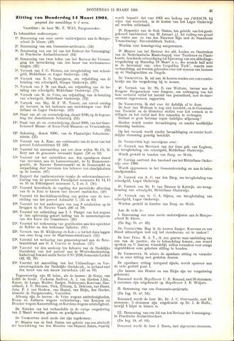 Handelingen van de Raad 1901-03-14