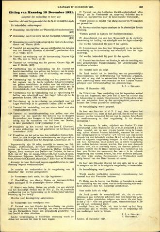 Handelingen van de Raad 1921-12-19