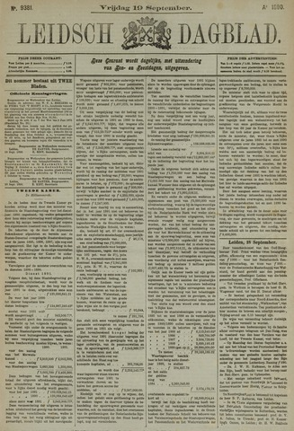 Leidsch Dagblad 1890-09-19