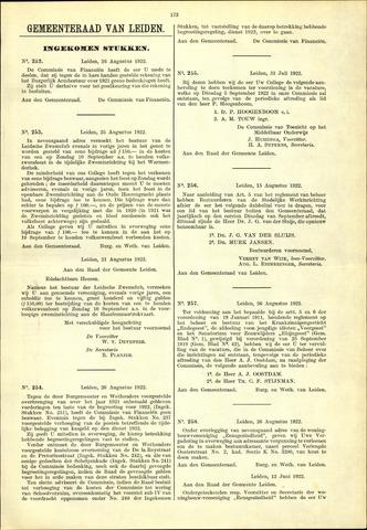 Handelingen van de Raad 1922-08-26