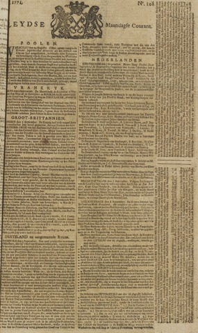 Leydse Courant 1771-09-09