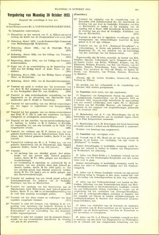 Handelingen van de Raad 1933-10-30