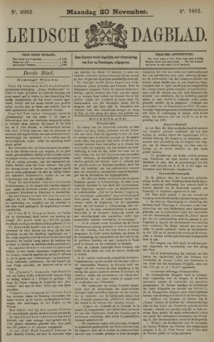 Leidsch Dagblad 1882-11-20